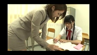 Asian Teacher Tempted Brat Student with Glasses