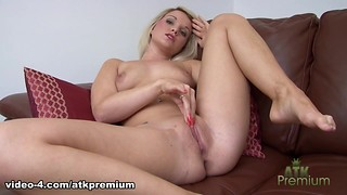 Blonde, Masturbation, Sex Toys, Solo