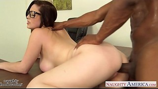 Big Ass, Big Boobs, Black and Ebony, Blowjob, Brunette, Fucking, Glasses, Interracial, School, Student