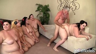 BBW, Chubby, Fucking, Group Sex