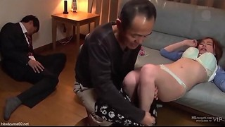 Asian, Old and young, Threesome